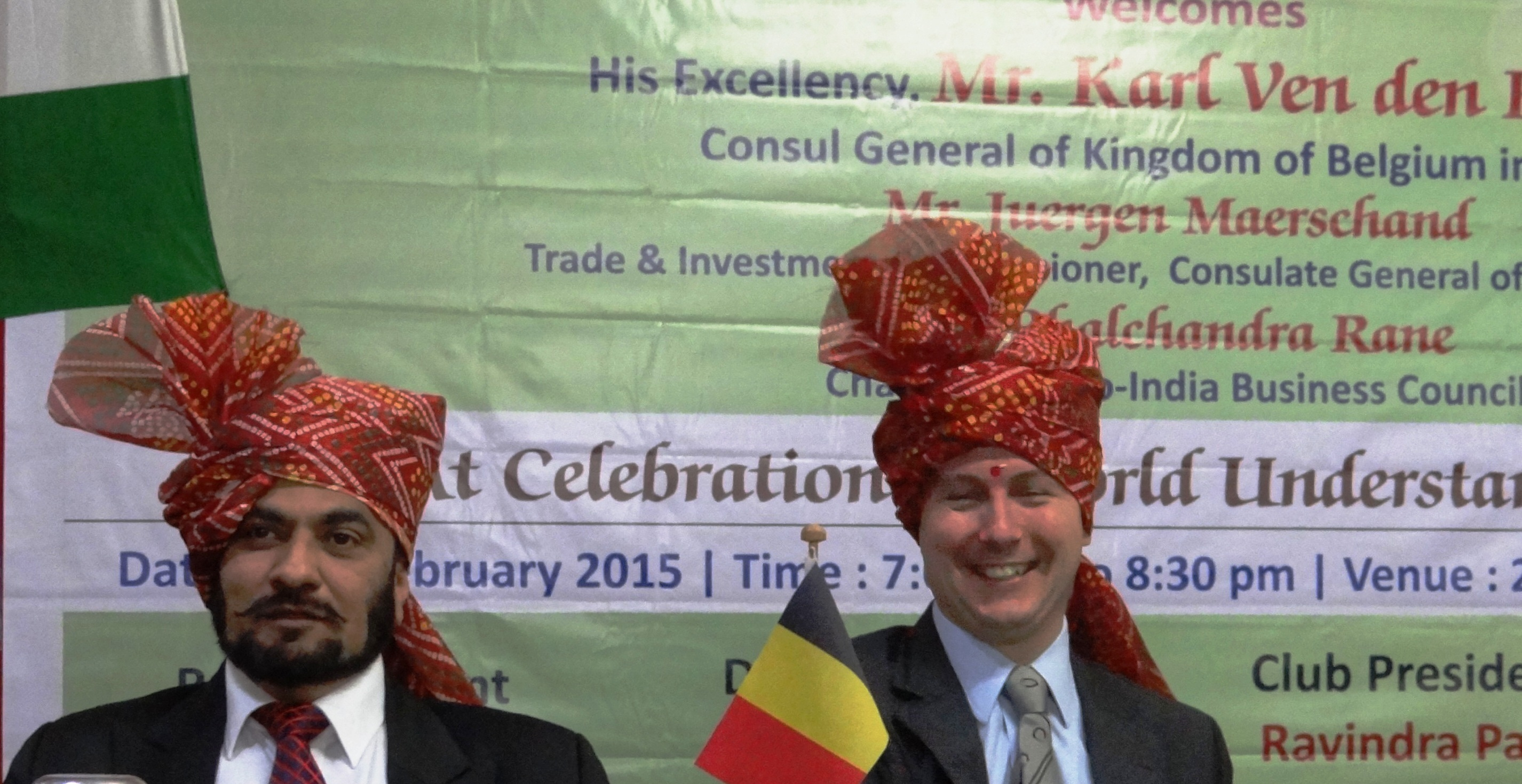 With His Excellency The Consul General of Belgium Mr.Karl Von Den Bossche.JPG