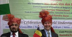 With His Excellency The Consul General of Belgium Mr.Karl Von Den Bossche.JPG