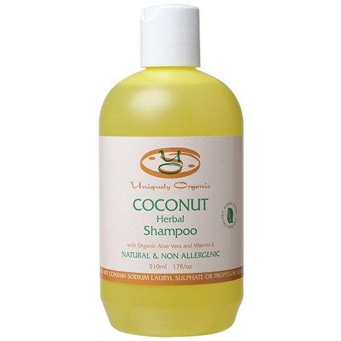 Uniquely Organics Coconut Shampoo, 510mL, 17fl/oz