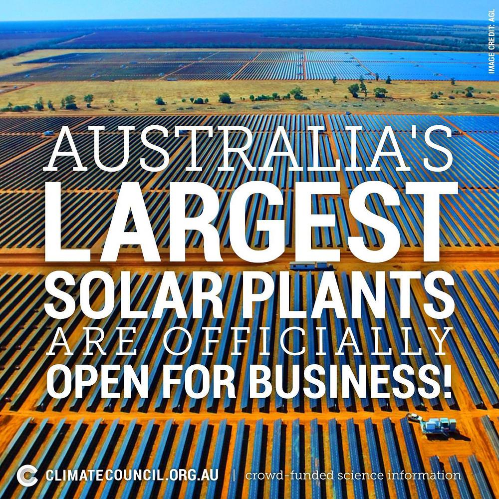 Solar plants in Nygan and Broken Hill