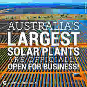 Solar plants in Nygan and Broken Hill