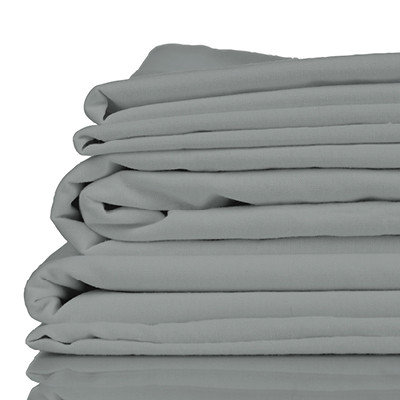 100% Organic Bamboo Twill Queen Size Bed Sheet Set, grey