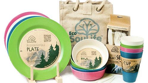 EcoSouLife Biodegradable Picnic Set, Tokyo colours