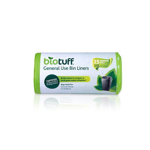 Biotuff General Use Bin Liners - Medium 30 Litre