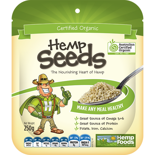 Organic Hemp Seeds, 1kg per pack