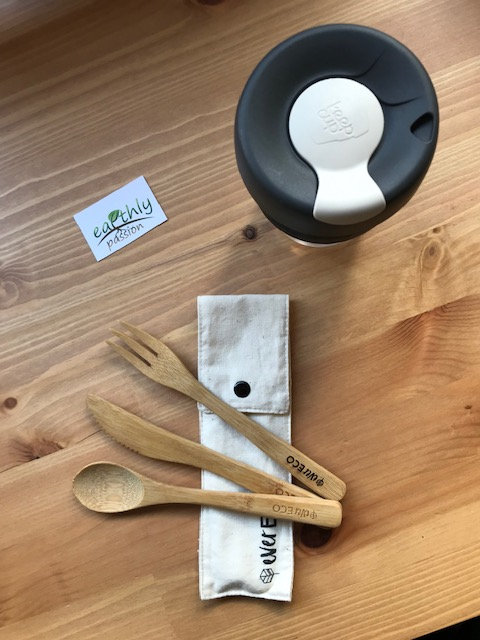 Keepcup & Cutlery set - Cork Band