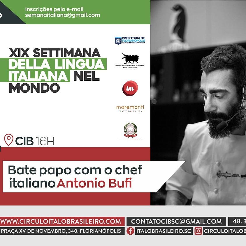 Bate papo com chef italino Antonio Bufi