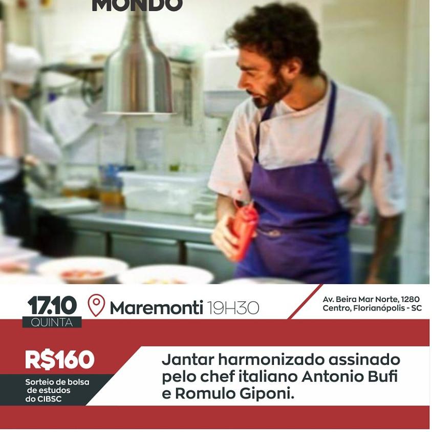 Jantar harmonizado assinado pelo chef italiano Antonio Bufi e Romulo Giponi