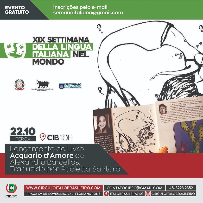 Lançamento Livro Acquario d'Amore de Alexandra Barcellos - traduzido por Paoleta Santoro