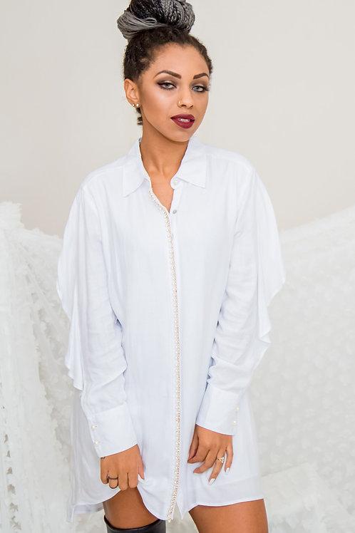 Vestido Babado - Branco