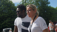 Edgar-Yves Monnou parrain du festival avec Séverine LE BIHAN, organisatrice