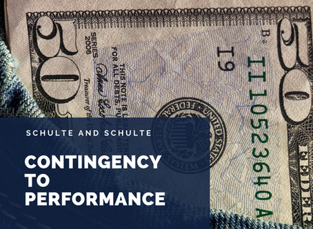 Contingency Budget to Performance Budget