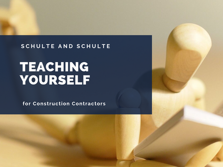 Teaching Yourself in the Construction World
