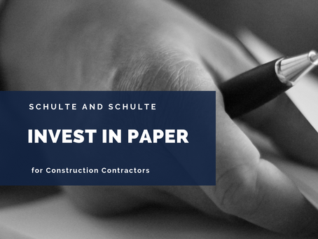 Why Your Construction Business Should Invest in Paper