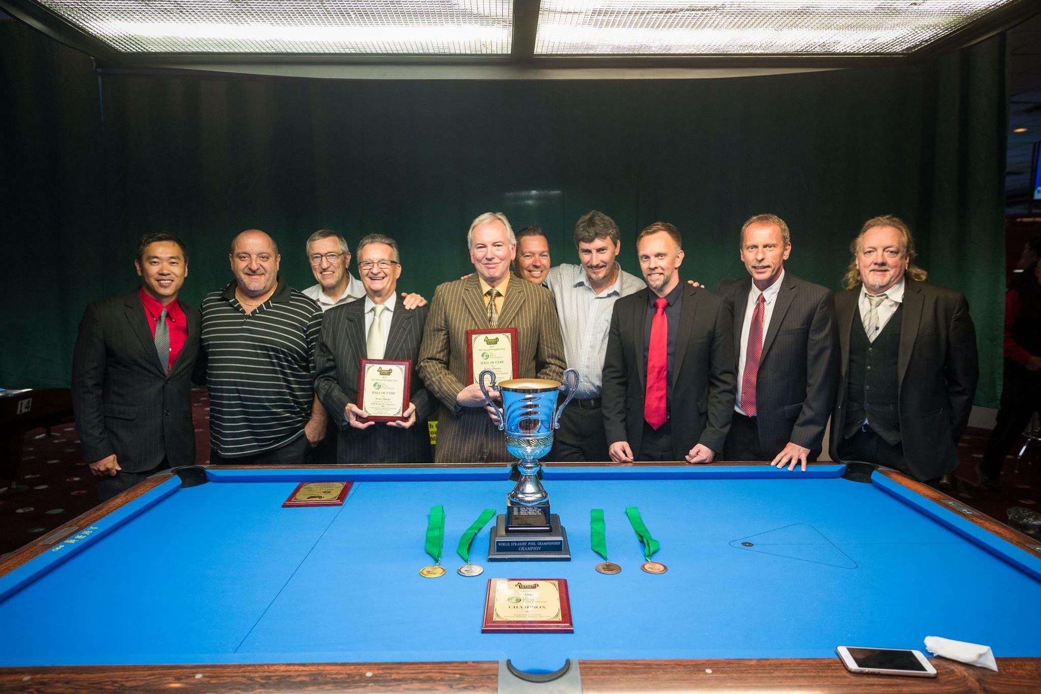 Bobby Hunter 14.1 HOF Award