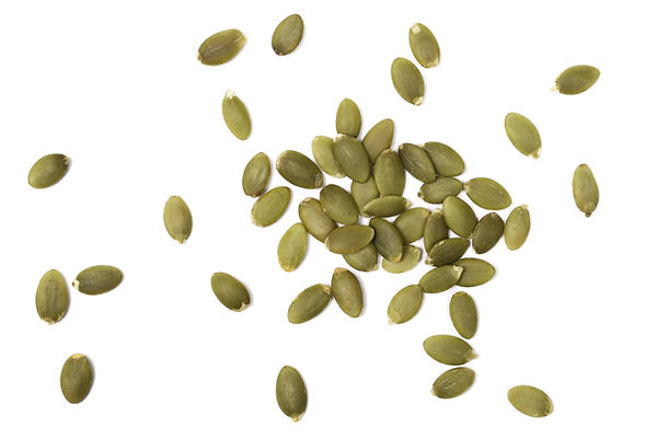Pumpkin seeds isolated on white backgrou