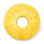 Pineapple ring. Canned pineapple slice.