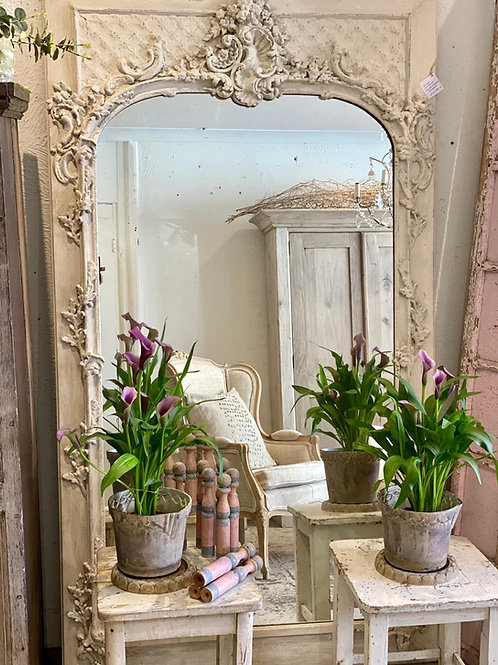 Stunning floor standing French mirror