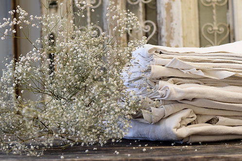 Handmade, vintage old French sheets