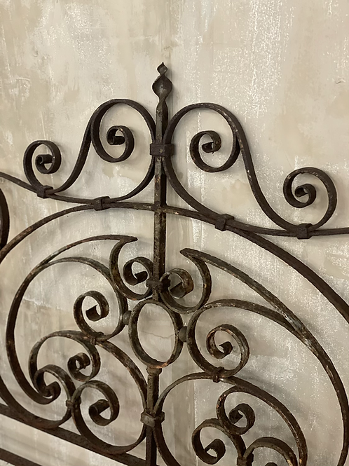 Cast iron decorative headboard