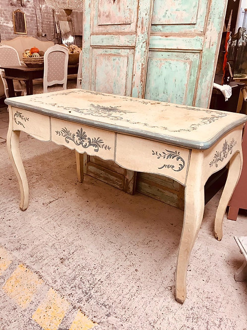 Floral painted french desk/table