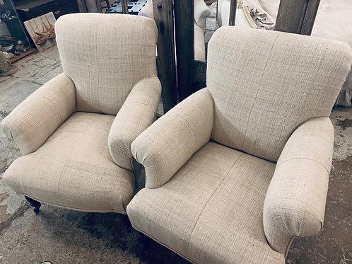 Linen armchairs