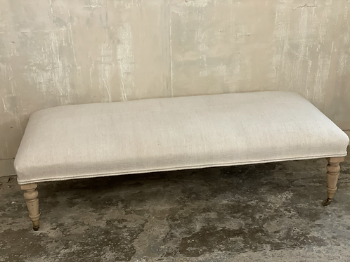 Linen covered foot stool