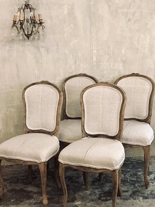 Stunning set of 4 French dinning chairs