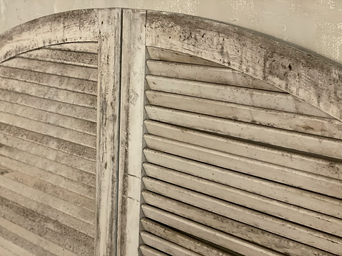 French arched shutters