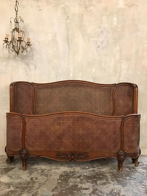 French king size rattan bed