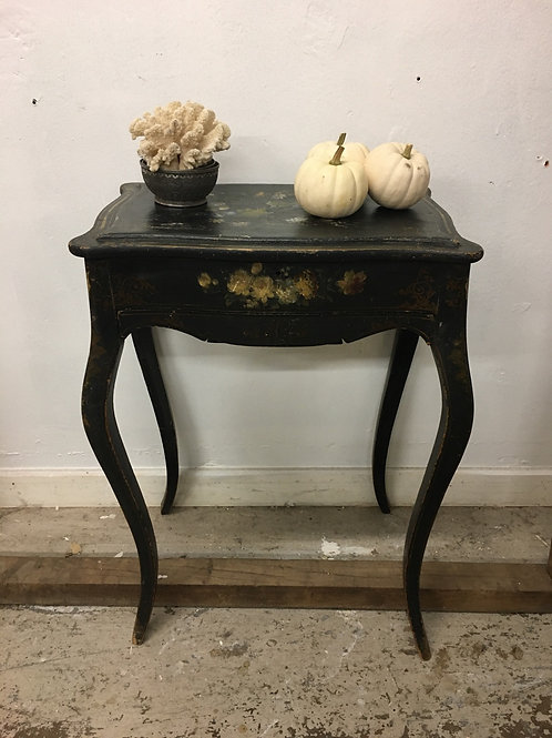 Ebonised mother of Pearl inlay side table
