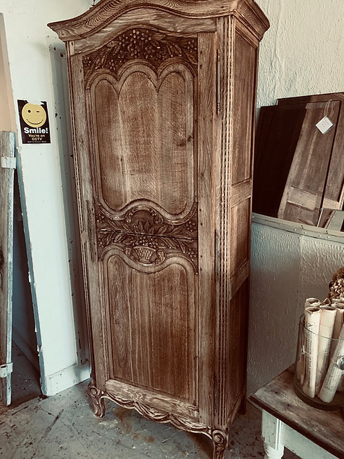 Charming French bleached armoire