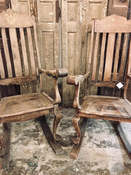 His and hers rocking chairs