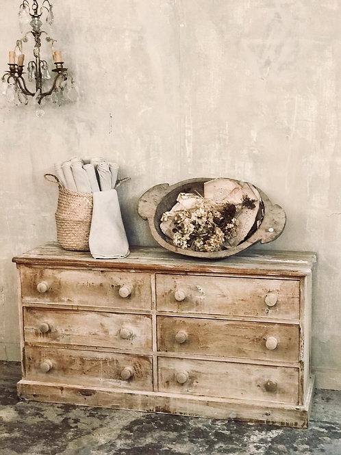 Antique pine multi drawer