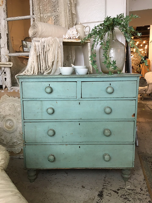 Duck egg blue chest of drawers