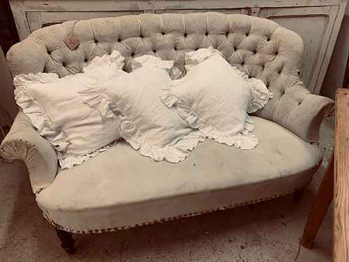 French buttoned sofa