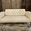 Thumbnail: Beautiful button back sofa recovered in linen