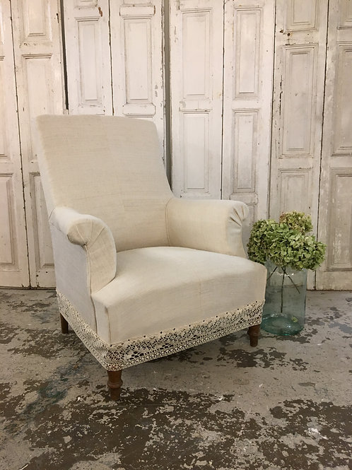 Beautiful French linen chair