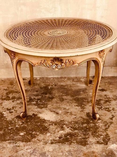 Pretty rattan top table