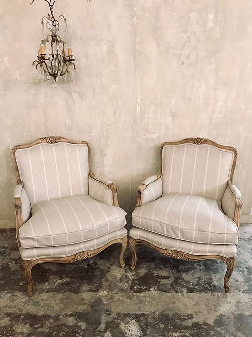 Stunning pair of French chairs