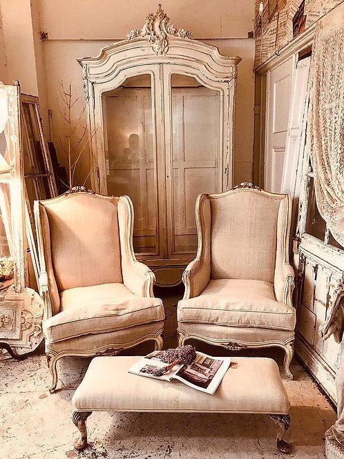 French glazed armoire
