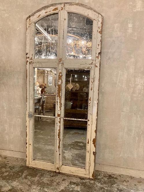 Mirrored French doors