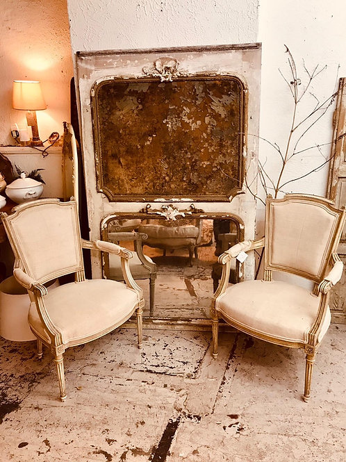 Pair of French carver chairs