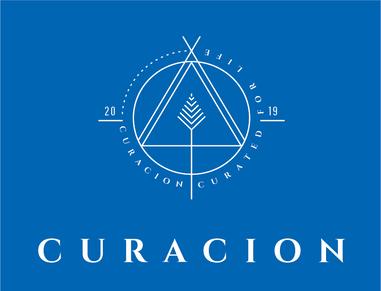 white curacion logo