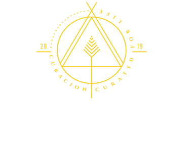 gold and white logo