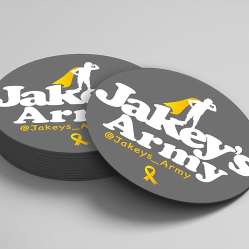 Jakey's Army 4 inch Circle Magnet
