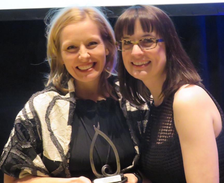 Dr Sloboda with her nominator Dr Lesley MacNeil