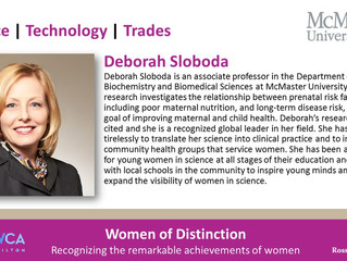 Dr Sloboda Nominated for YWCA Hamilton Women of Distinction 2017