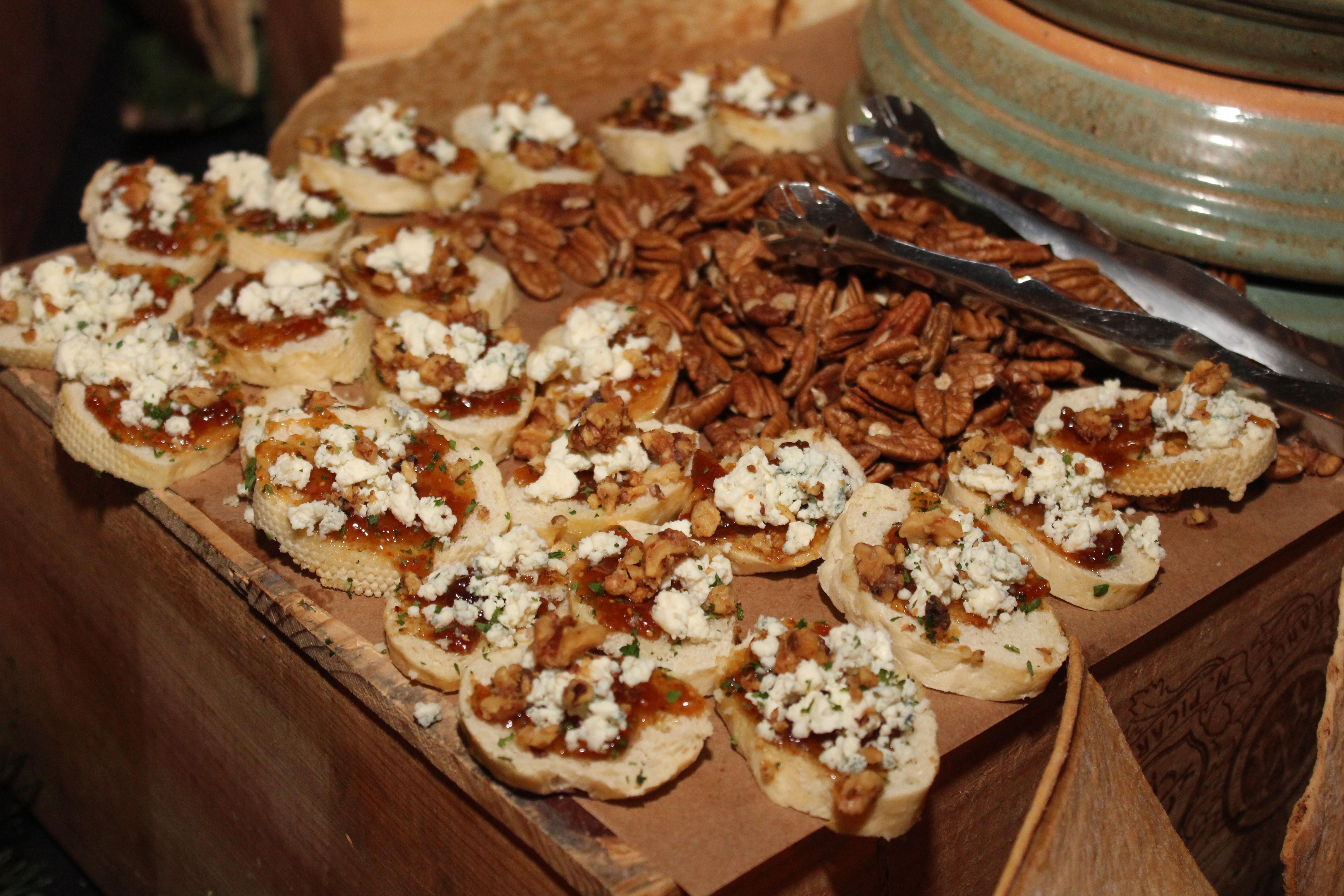 Pecan Gorgonzola Tartines