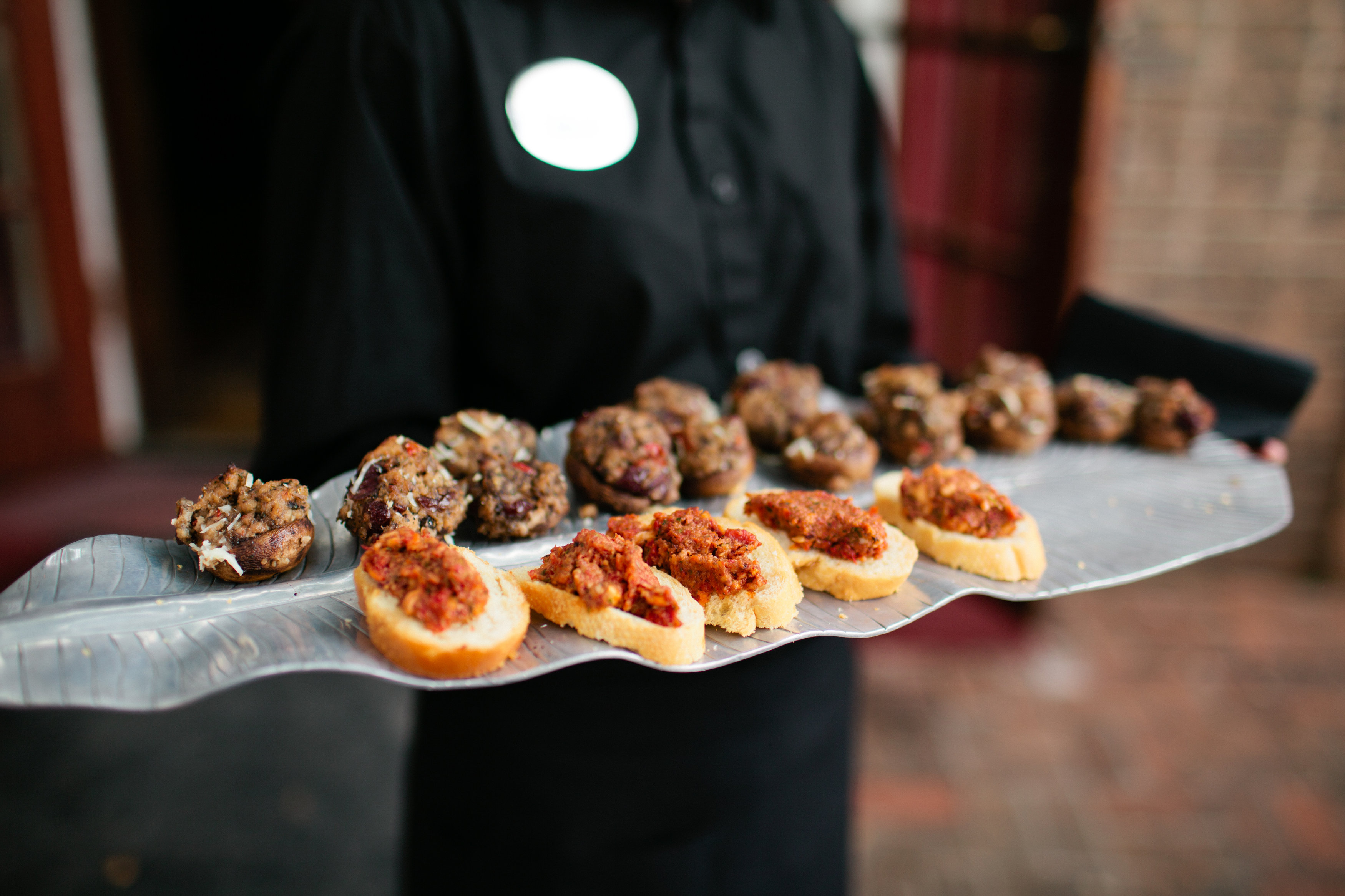 Crostini and Mushroom Appetizers